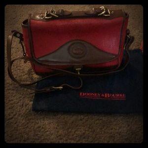 Vintage Dooney & Bourke red leather bag